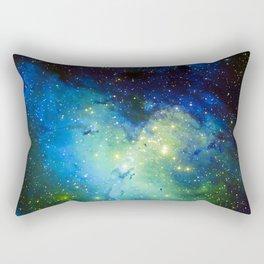 The Eagle Nebula Green Blue Rectangular Pillow