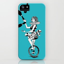 Juggling Unicyclist iPhone Case
