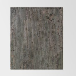 Old Wood Throw Blanket