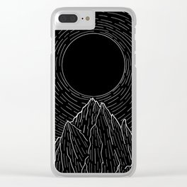 The dark sun over the mountains Clear iPhone Case