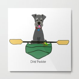 Dog Paddle Metal Print