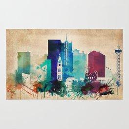 Denver Vintage skyline Rug