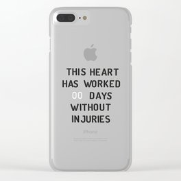 PEG BOARD SAFETY SIGN Clear iPhone Case
