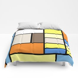 The Colors of / Mondrian Series - To toro - Miyazaki Comforters
