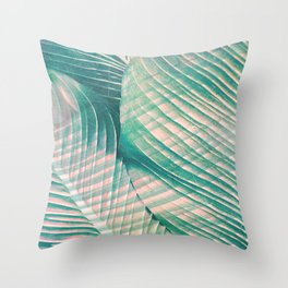 Tropical Colorful Leaves Throw Pillow