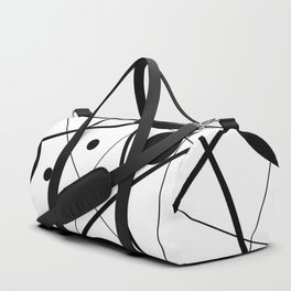Abstract Lines and Dots Duffle Bag