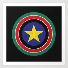Captain South Sudan Art Print
