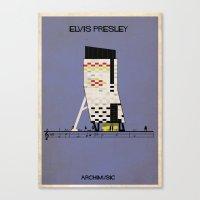 elvis presley Canvas Prints featuring Elvis Presley by federico babina