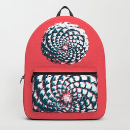 pine cone pattern in coral, aqua and indigo Backpack