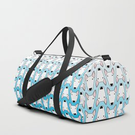 small gridlock duffle blue gradient Duffle Bag