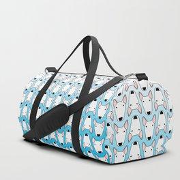 small gridlock duffle blue gradient Duffle Bag
