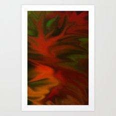 Flaming Red Art Print