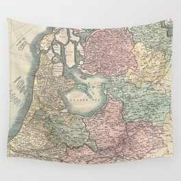 Vintage Map of The Netherlands (1799) Wall Tapestry