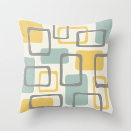 Mid Century Modern Abstract Squares Pattern 453 Throw Pillow