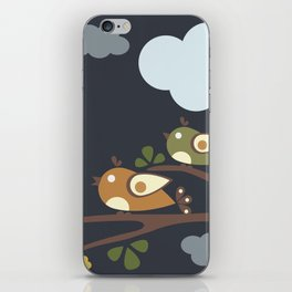 Birds sitting on tree branches iPhone Skin