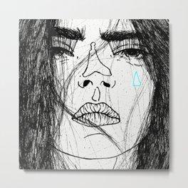 Bored Metal Print