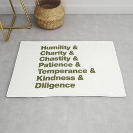 Seven virtues Rug