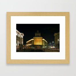 City Center of Sofia With Government and Business Buildings Framed Art Print