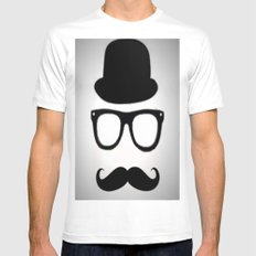 Gentleman Mens Fitted Tee White MEDIUM