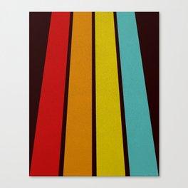 Retro Lines Canvas Print