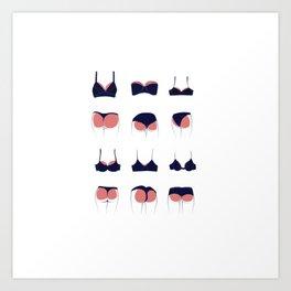 Butts & Bras Art Print