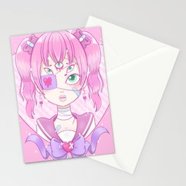 Sickly Quintclops Girl Stationery Cards
