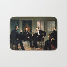 The Peacemakers -- Civil War Union Leaders Bath Mat