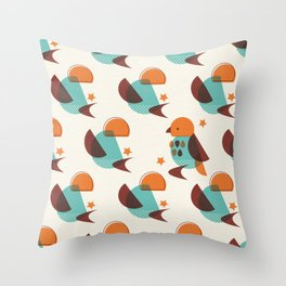 Brid Century Modern - Bird V Throw Pillow