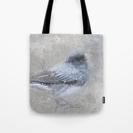 Dark Eyed Junco Bird Tote Bag