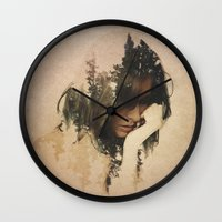 lost Wall Clocks featuring Lost In Thought by Davies Babies