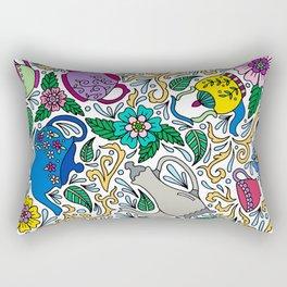 Colorful Tea Time Rectangular Pillow