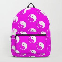 Yin & Yang (White & Magenta Pattern) Backpack