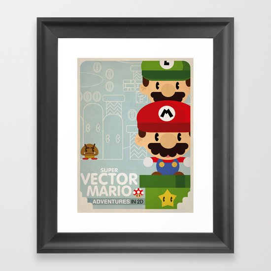 mario bros 2 fan art Framed Art Print