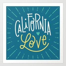 California love - blue Art Print