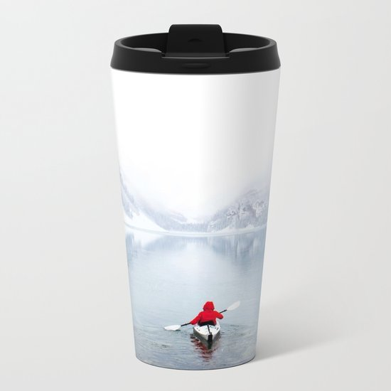 Kayaking Across A Canadian Lake Metal Travel Mug