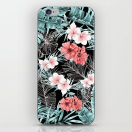 Black & Rose Gold Pink Island Paradise iPhone Skin