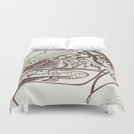 Encre brun Duvet Cover