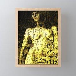 Nude Art Collage Framed Mini Art Print