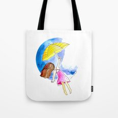 Fly to the Moon Tote Bag