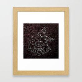 Anubis Egyptian God Framed Art Print
