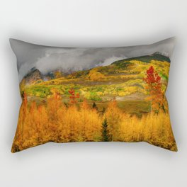 Autumn Scene at Crested Butte, Colorado Rectangular Pillow