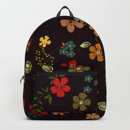 Floral Pattern Colorful Design Backpack