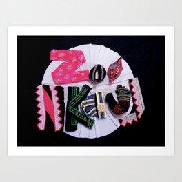 Zoo Nkauj Art Print