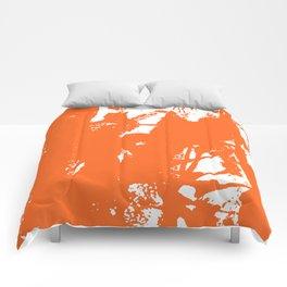 Orange Ink Comforters