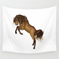 gypsy Wall Tapestries featuring HORSE - Gypsy by valzart