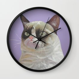 Grumpy  Purple Wall Clock