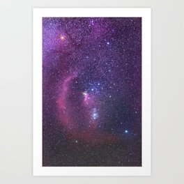 Constellation of Orion in real night sky Orion The Hun Art Print