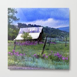 Purple Dames Rocket Ranch Saturated by CheyAnne Sexton Metal Print