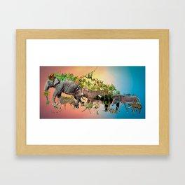 La Tribu Framed Art Print