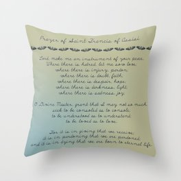 Prayer of St. Francis of Assisi Throw Pillow